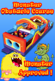 Monster Obstacle Course Inflatable Rental